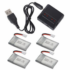 4pcs 3.7V 600mAh Battery + USB Charger for Syma X5C X5C X5SC X5SW Drone BC685