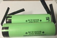 "Brand New ""2"" Panasonic 18650 NCR18650B 3400mah Rechargeable Battery, with Tabs"