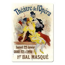 "Bal Masque Vintage French Advert Mini 5"" x 7"" Metal Sign"