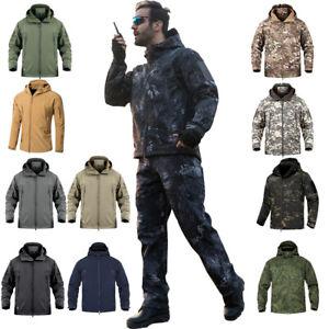 Men Fleece Softshell Camouflage Hunting Trekking Fishing Climb Waterproof Jacket