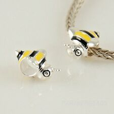 Bumble Bee Charm Bead 925 Sterling Silver