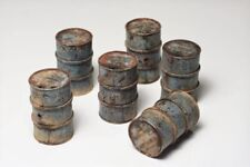 HO Scale (Pack Of 12) 55 Gallon Oil Drums White Metal Castings New Model Train