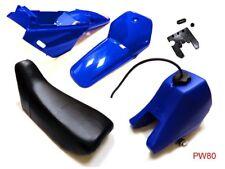 New YAMAHA PW 80 Plastics Plastic Kit Tank Seat Front & Rear Fender Blue