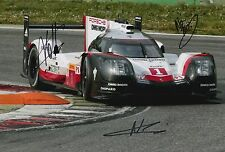 Lotterer, Tandy, Jani Hand Signed Porsche Racing 12x8 Photo Le Mans 2017 6.