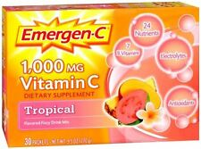 Emergen-C Vitamin C Drink Mix Packets Tropical 30 Each (Pack of 2)