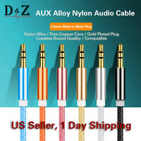 3.5mm AUX Auxiliary Cord Male Male Stereo Audio Cable for iPod iPhone 6s MP3 CAR