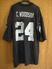 Maillot Raiders Oakland Reebook Charles Woodson #24 Football Americain - L
