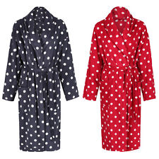 Marks and Spencer Women's Soft Fleece Spotted Polka Dot Dressing Gown 10-22