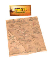 NEW PIRATE TREASURE DESIGN MAP BAG TOY PRO FANCY DRESS PARTY COSTUME ACCESSORY
