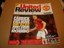 MANCHESTER UNITED V WIGAN ATHLETIC PROGRAMME 30.12.2009 UNITED REVIEW EXCELLENT