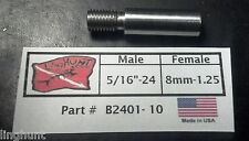 "Adapter 5/16""-24 Male by 8mm-1.25 Female, Speargun, Tip, Pole Spear Stainless"