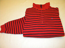 IZOD Mens 1/2 Zip Long Sleeve Sweater Size L