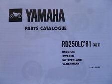 Yamaha RD 250 LC 4L1 Manual de lista de piezas Catálogo RZ 350 RD 350 114L1-332E2.