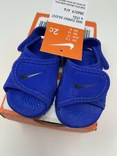 BABY BOYS: Nike Sunray Adjustable Sandals, Blue - Size 2c 386519-414