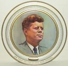 VINTAGE PRESIDENT JOHN F. KENNEDY FABCRAFT INC. COLLECTIBLE ROUND METAL TRAY