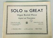Organ Music Solo to Great Organ Recital Pieces Vol 1 5726 Hammond G+ 191017
