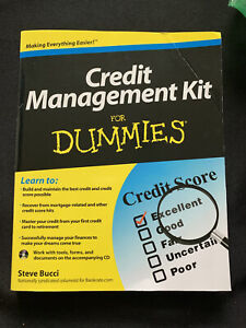 Credit Management Kit for Dummies Book With CD - New