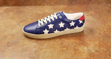 YSL Saint Laurent 'SL/06' Stars Low Top Sneaker Blue Mens 10 US 43 Eur MSRP $595