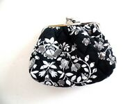 Vera Bradley Kiss Closure Coin Case in Chandelier Noir Pattern  NWT