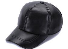 Baseball Hat Lambskin Outdoor Man Cap Camping Hiking Gorras Real Leather   AAA