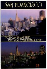 San Francisco Great Earthquake Postcard California You Can Shake Her But Can't