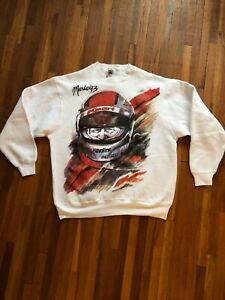 Vintage 90s Mario Andretti XL Sweatshirt Indy Car Formula One Nascar, USA MADE