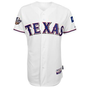 Texas Rangers Authentic On-Field MAJESTIC 2010 World Series Jersey Collection