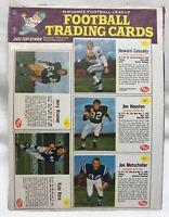 Rare 1962 NFL Football Uncut Panel Post Cereal Jerry Kramer, Mutscheller, Etc.