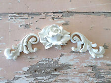 SHABBY & CHIC ROSE ARCHITECTURAL FURNITURE APPLIQUES  * NEW * ONLAYS MOLDINGS