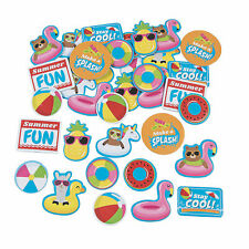 Pool Party Self-Adhesive Shapes - Craft Supplies - 72 Pieces