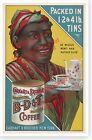 Black Americana B-D & T Carhart Coffee Retro 1907 Advertising Poster