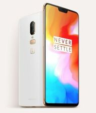 "OnePlus 6 Silk White 8GB/128GB 6.28"" Dual16 + 20 MP Octa Core Phone CN FREESHIP"