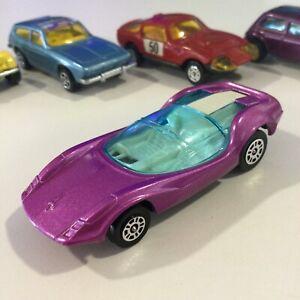 CORGI JUNIORS WHIZZWHEELS JR PURPLE ADAMS PROBE SPORTS CAR NM/M 1:64 GT BRITAIN