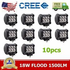 10X 18W Flood LED Work Light Bar 4inch ATV Off-Roads Fog Driving Cree UTV SALE