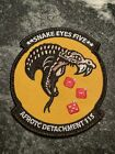 Detachment 115 Snake Eyes USAF UConn University CT Logo Patch Rare AFROTC Velkro
