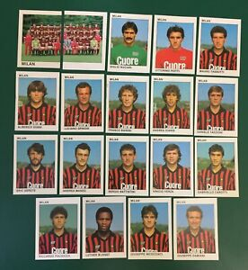 LOTTO DI 19 FIGURINE ALBUM CALCIATORI CALCIO FLASH 84 1983-84 MILAN COMPLETA