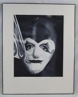 Noir & Blanc B&w Photographie Fin Art Monté Encadré Clown Thème