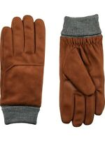 Isotoner Men's Smart DRI Microfiber Gloves with Smart Touch Technology Cognac M