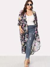 NEW..Stylish Plus Size Beautiful Navy Floral Kimino Cardi Cover Up..SZ22/3XL