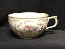 Rosenthal Sanssouci Germany Demitasse Tea Cup Floral, Grey Scrolls Trim RARE