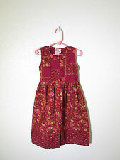 Cornelloki Girls Red Floral Sleeveless Dress Size 3/4