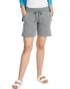 "Hanes Womens Jersey Shorts w Pockets Drawstring Super Soft 100% Cotton 7"" Inseam"