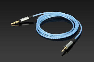 Silver Plated Audio Cable For Creative Hitz WP380 AURVANA PLATINUM/GOLD