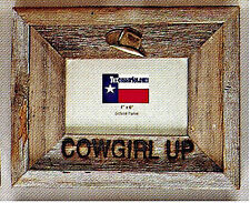 """""""Cowgirl Up""""  Barnwood Photo Frame"""