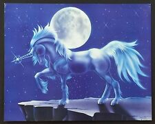 ~ Fantasy ~ 049 Unicorn and Moon ~ Vintage Poster / Print 16 x 20