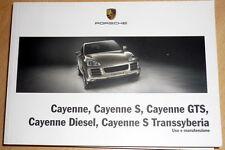 Porsche Cayenne Diesel,Transsyberia,libretto di uso e manutenzione ITA