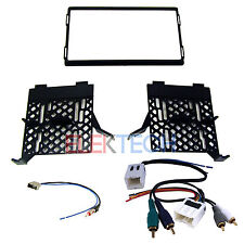 Radio Replacement Dash Kit w/Amp Retain Harness & Antenna for Nissan Frontier