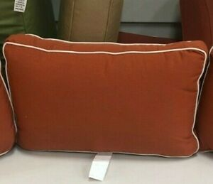 1 Frontgate Melrose Outdoor Sofa Chair Patio Thick Back Cushion Pillow 25x15
