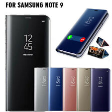 For Samsung Galaxy Note 9 Silm Smart Mirror Flip Stand Luxury Case Leather Cover