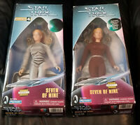 Two SEVEN OF NINE Figurines Star Trek Voyager 7 of 9 Warp Factor LIMITED EDITION